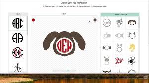 Monogram Font On Cricut Design Space Create Monograms For Cricut Design Space For Free