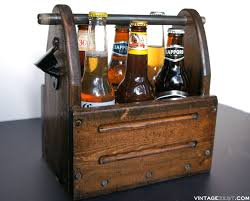 wooden beer carrier for a six pack on diane s vintage zest