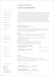 Sample Security Guard Resume Amazing Resume For Security Officer With No Experience Socialumco