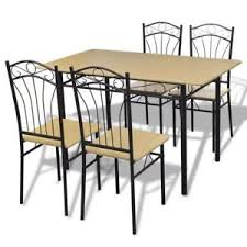 retro style furniture. Image Is Loading 5-Piece-Dining-Set-Wood-Top-Table-and- Retro Style Furniture