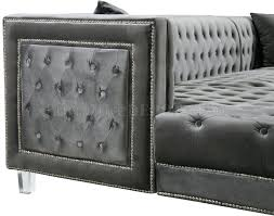 grey velvet sectional. Grey Velvet Sectional Sofa Furniture Row Stores In Fabric By Meridian P F