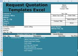 Pricing Model Excel Template Request Quotation Templates Excel Free Excel Spreadsheet