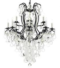 lovely wrought iron chandeliers with crystal or special 77 mini wrought iron crystal chandelier