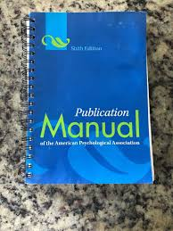 Publication Manual Of The American Psychological Association By American Psychological Association Staff 2009 Spiral