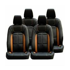 tan four wheeler leather car seat cover