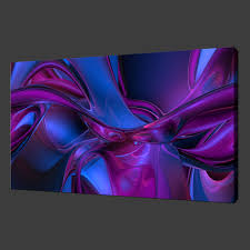 image is loading purple blue abstract premium canvas print wall art