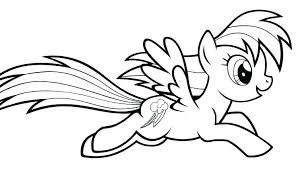 Coloring Pages Of Rainbow Dash 15 Linearts For Free Coloring On