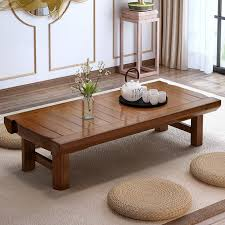 low coffee table. Vintage Wood Table Foldable Legs Rectangle Living Room Furniture Asian Antique Style Bench Low Coffee Center