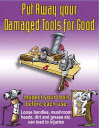 hand tool safety posters. hand and power tool safety posters o