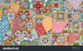 Vector patchwork pattern. Vintage decorative elements. Hand drawn  background. Indian, Arabic,
