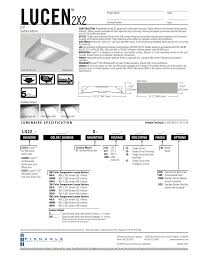 Pinnacle Architectural Lighting 2x2 Surface Led Spec Sheet Pinnacle Architectural Lighting