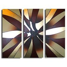 hand painted modern abstract oil painting canvas 3 panel pictures home decor wall art line geometric