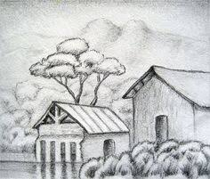 simple pencil drawings of landscapes