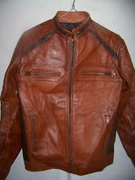 real leather summer motorcycle jacket men s large items