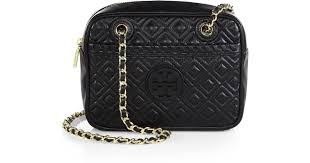 Lyst - Tory burch Marion Quilted Crossbody Bag in Black &  Adamdwight.com