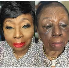 shocking makeup transformation of an old woman