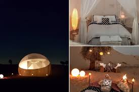 Camping Lights Dubai Camp In A Crystal Roof Bubble Tent In Dubai News Time