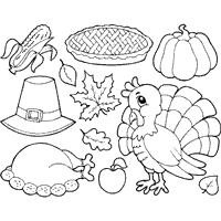 Small Picture Coloring Pages Thanksgiving Surfnetkids