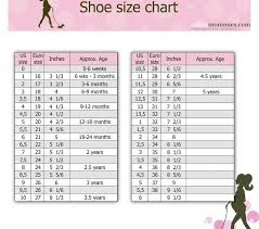 Disney Store Clothing Size Chart Unbiased Kids Shoe Sizing Chart By Age Child Shoes Chart The