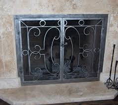 an open scroll pattern fireplace screen custom built by le forge located in north hollywood ca
