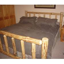 Pine Log Queen Size Bed Frame
