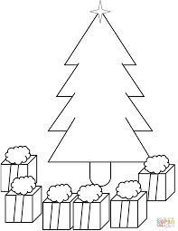 christmas tree with presents drawing. Delighful Christmas Click The Xmas Tree With Presents Under It  To Christmas With Drawing R