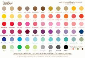 Wedding Color Chart Ink Color Chart For Rustic Twine Wedding Invitation Set By