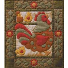 Spotty Rooster Quilt Kit By Rachel's Of Greenfield , Animals ... & Spotty Rooster Quilt Kit Adamdwight.com