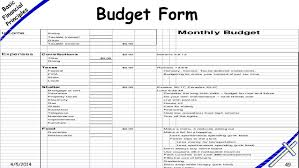 Household Budget Form Monthly Household Budget Template Business