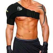 ac joint support. shoulder stability brace with pressure pad by babo care - breathable neoprene support for rotator ac joint e