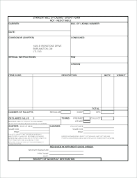 Blank Bill Of Lading Forms Straight Bill Of Lading Template Awesome Excel Download By