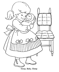 Small Picture Girl Baby Coloring Pages Coloring Coloring Pages