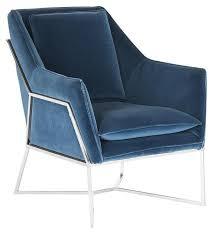 evrex royal blue velvet club chair blue velvet chair73