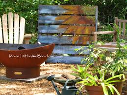 upcycled wooden pallet garden art