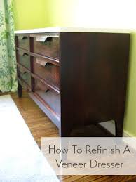 laminate furniture makeover. How-to-refinish-a-veneer-dresser Laminate Furniture Makeover