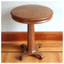 antique oak side table round vintage