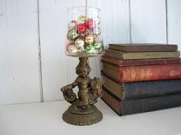 <b>Vintage</b> Metal Cherub Figurine <b>Statue</b> Candleholder Candle Holder ...