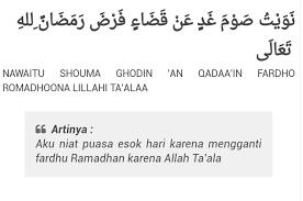 Puasa qadha dan sunnah pada hari yang sama. Niat Puasa Qadha Ramadhan Dan Puasa Sunnah Muharram