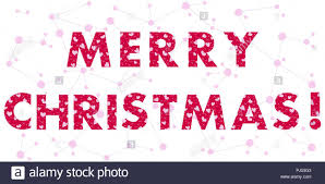 Merry Christmas Banner Print Christmas Card With The Inscription The Message Is Decorated With