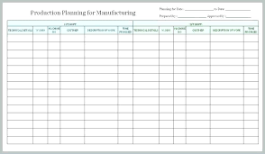 Production Scheduling In Excel Productivity Report Template Excel Production Admirable