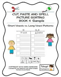 These phonics activities will help your kids improve their reading. Cut And Paste Spell Phonics Picture Sorting Worksheets Long Vowels Free