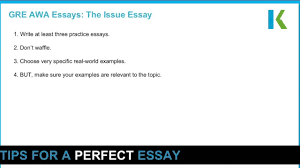 top tips for a perfect gre issue essay