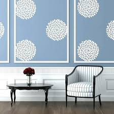 demask wall decals damask wall decal plus white vinyl flower wall pattern on a blue wall demask wall decals damask