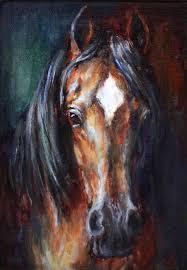 original horse oil painting canvas original by ferrarofineart