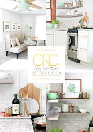 Kitchen Cottage Contemporary Cottage Kitchen Makeover Home Made By Carmona