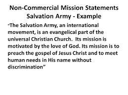 Mission Statement Example 15 Salvation Army Mission Statement Resume Statement