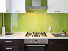 White Countertop Paint Kitchen Modern Kitchen Design Mint Green Backsplash White