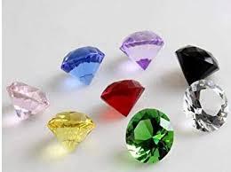 ZAMTAC <b>50pcs</b>/<b>lot</b>,30mm Mixed Color Crystal Glass <b>Diamond</b> ...