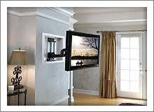 flat screen tv on wall side view. in-wall tv mounts flat screen tv on wall side view