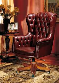 classic desk chairs. IMPERO / HOME OFFICE Armchair President, Office Classic Chair, In Leather, With Wheels Desk Chairs E